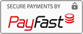We Accept Visa and MasterCard via PayFast